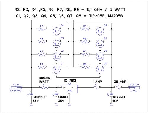 Rangkaian Adaptor 12V