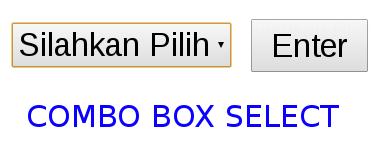 combo box pada php