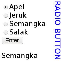 input radio button pada php