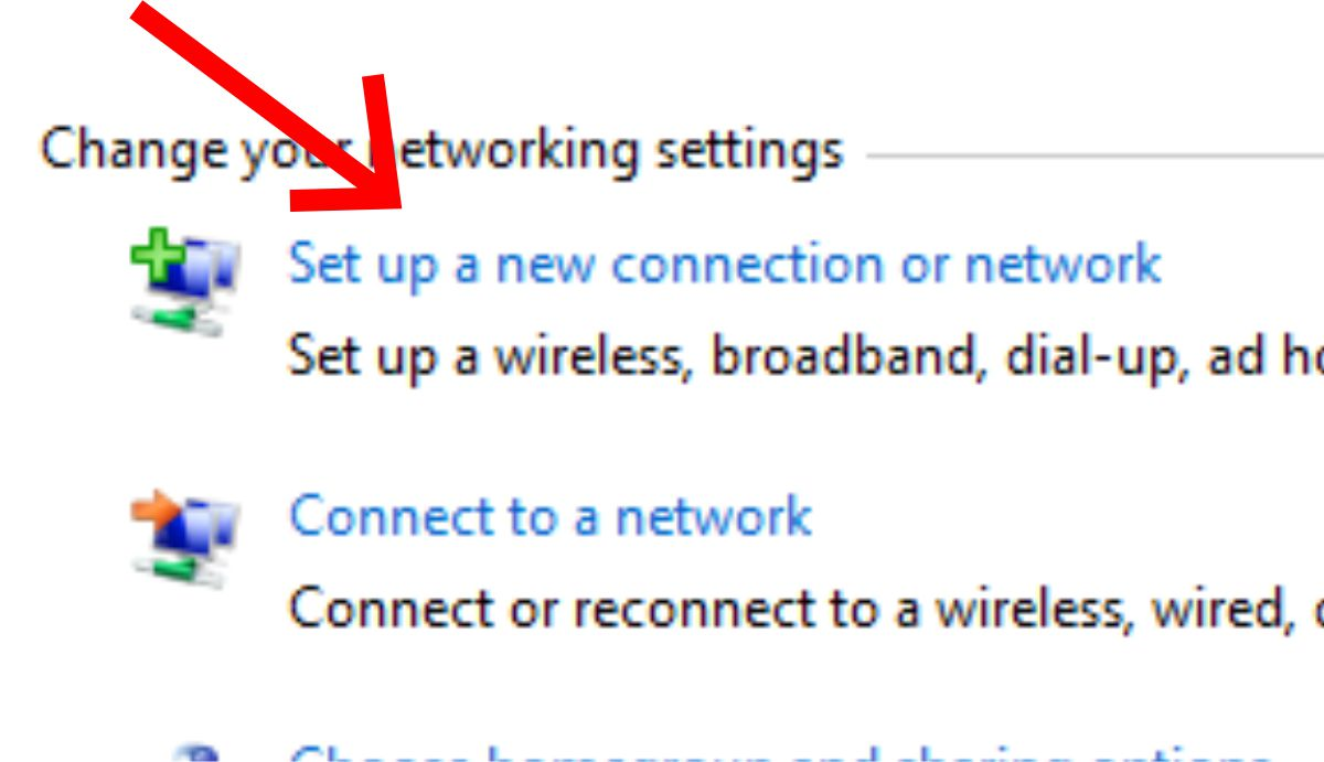 setup network connection