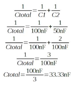 contoh menghitung kapasitor seri