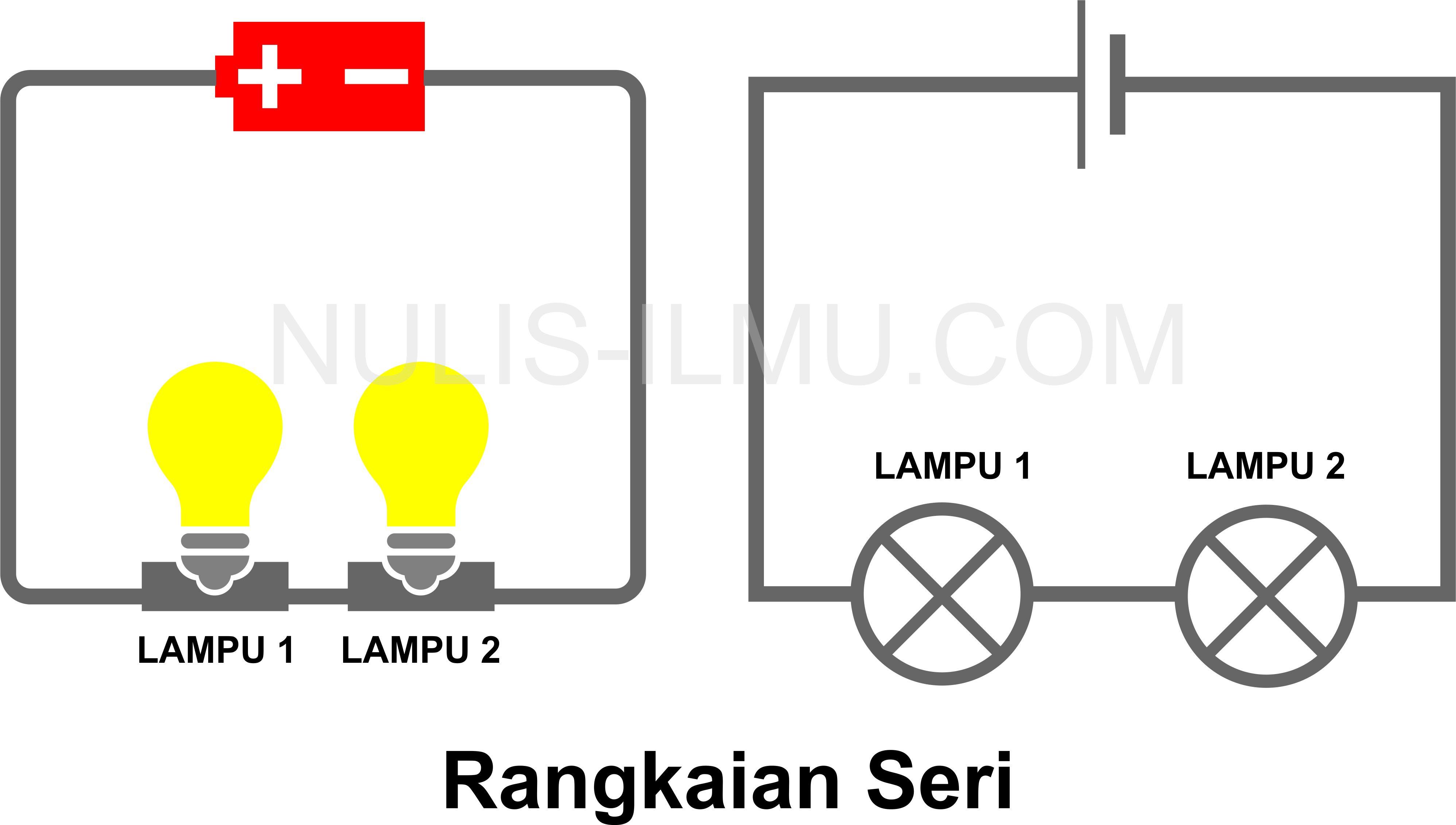 rangkaian seri lampu