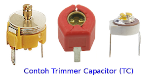jenis trimmer kondensator