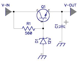 dioda zener sebagai penyetabil tegangan